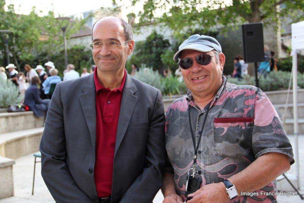 Freddy Della et Eric Woerth, Maire de Chantilly